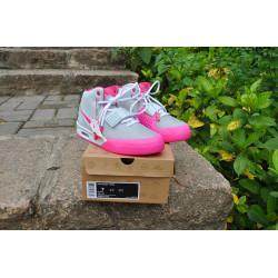 Nike Yeezy 2 серые с розовым